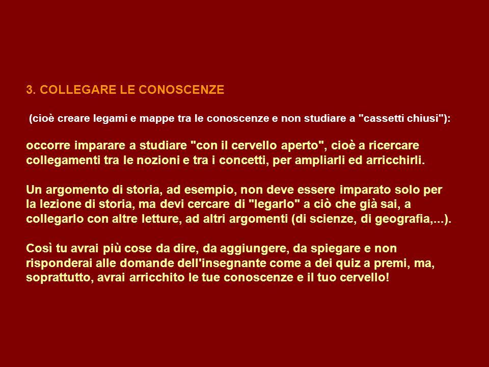 3. COLLEGARE LE CONOSCENZE