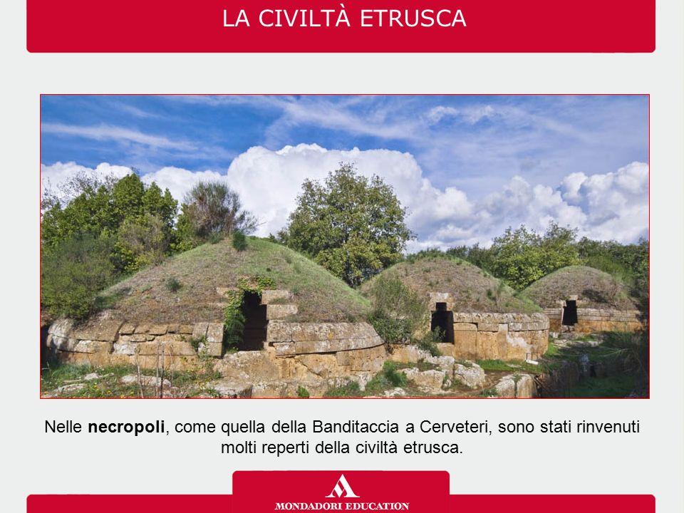 molti reperti della civiltà etrusca.