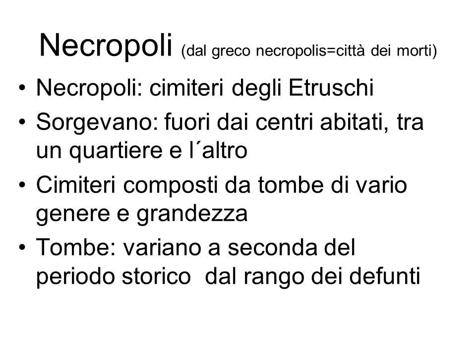 Necropoli (dal greco necropolis=città dei morti)