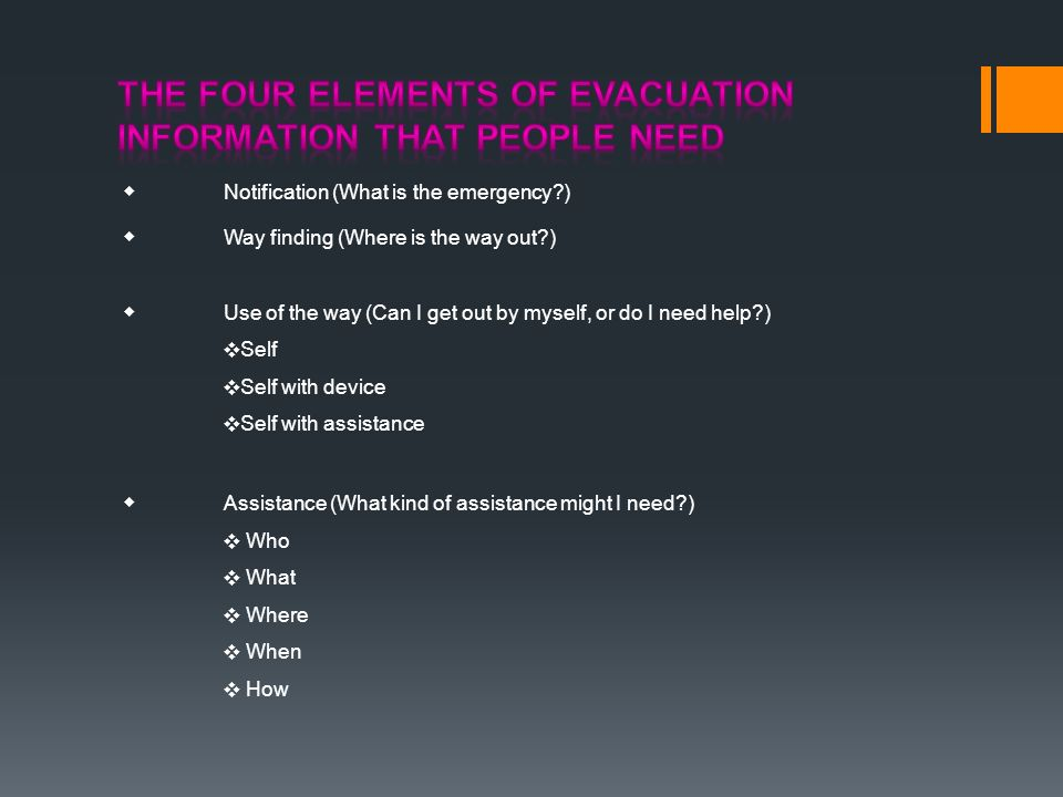 The Four Elements of Evacuation Information That People Need