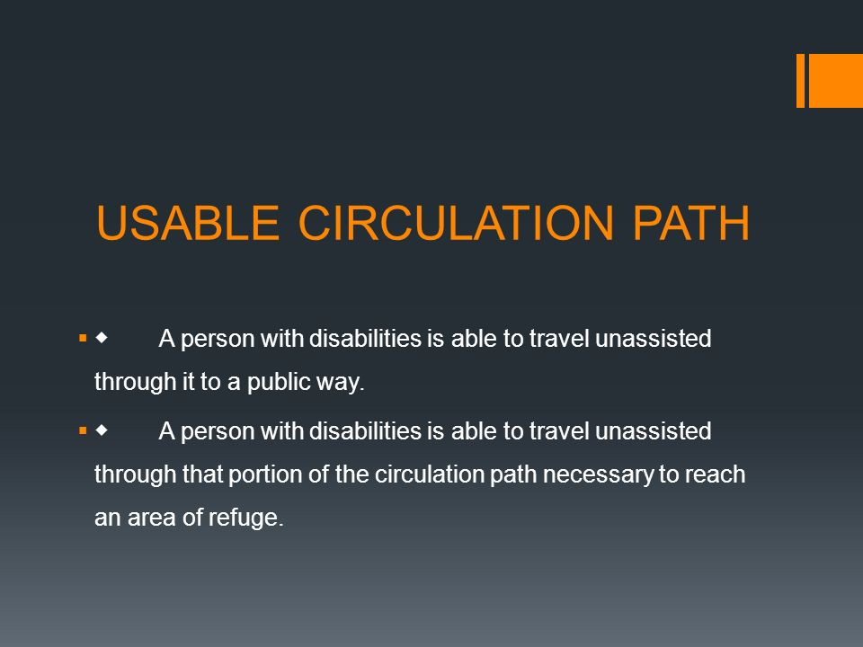 USABLE CIRCULATION PATH