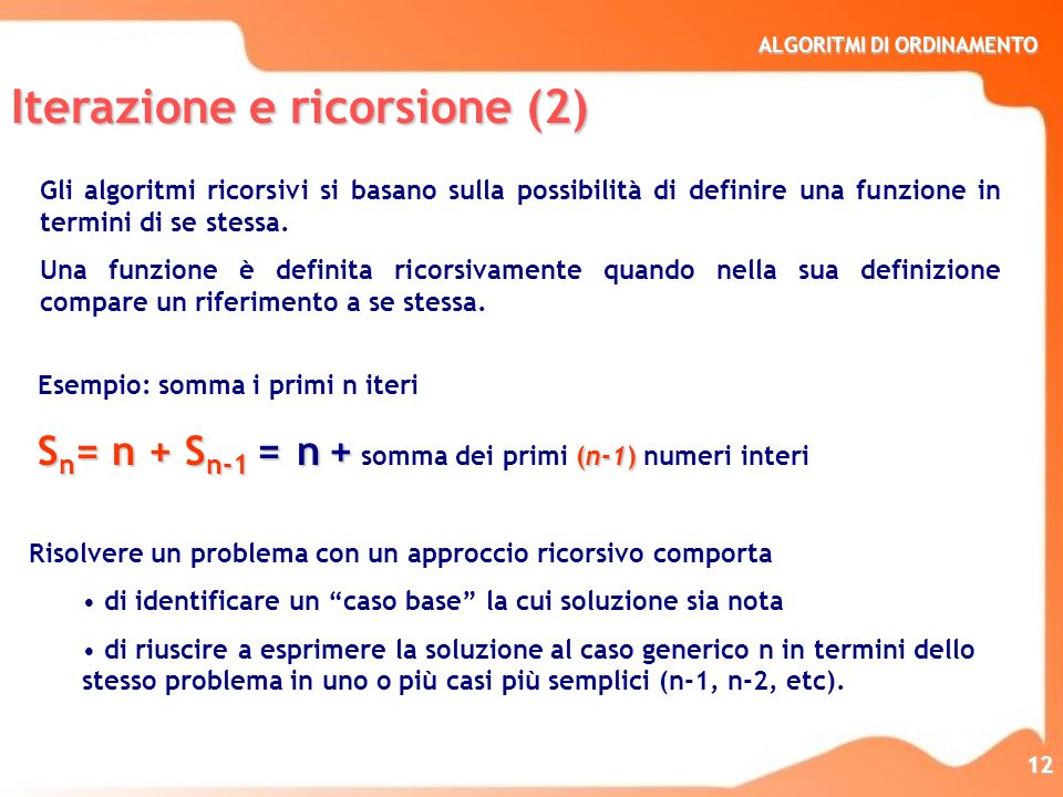 Iterazione e ricorsione (2)