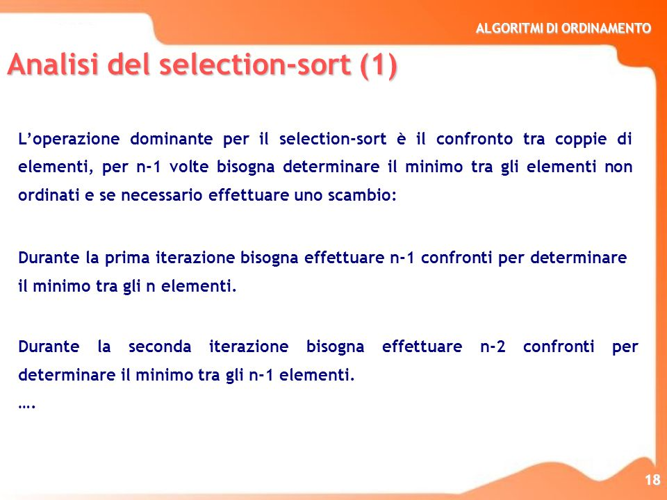 Analisi del selection-sort (1)