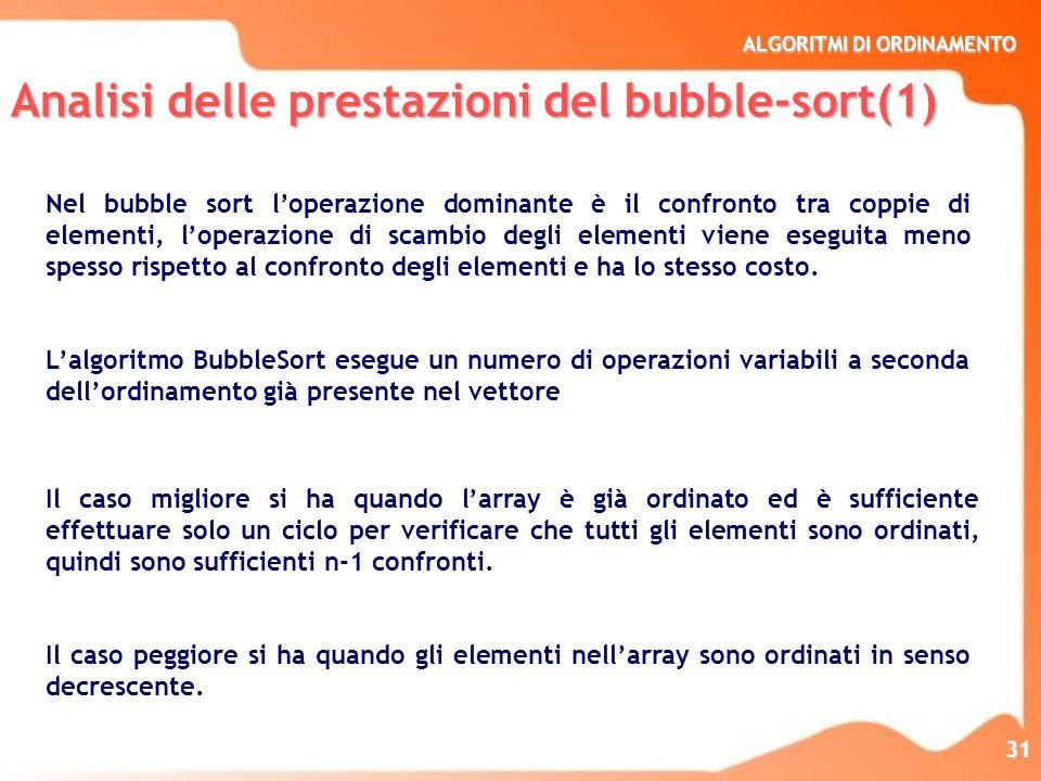Analisi delle prestazioni del bubble-sort(1)
