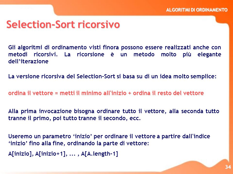 Selection-Sort ricorsivo