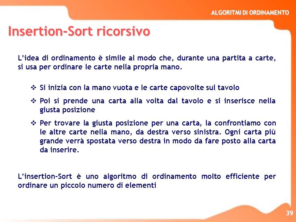 Insertion-Sort ricorsivo