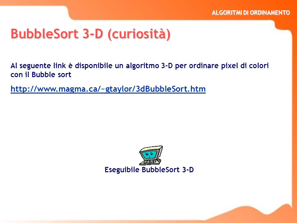 BubbleSort 3-D (curiosità)