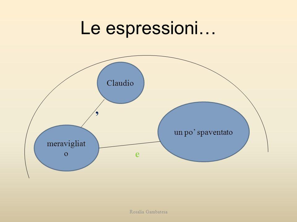 Le espressioni… , e Claudio un po' spaventato meravigliato