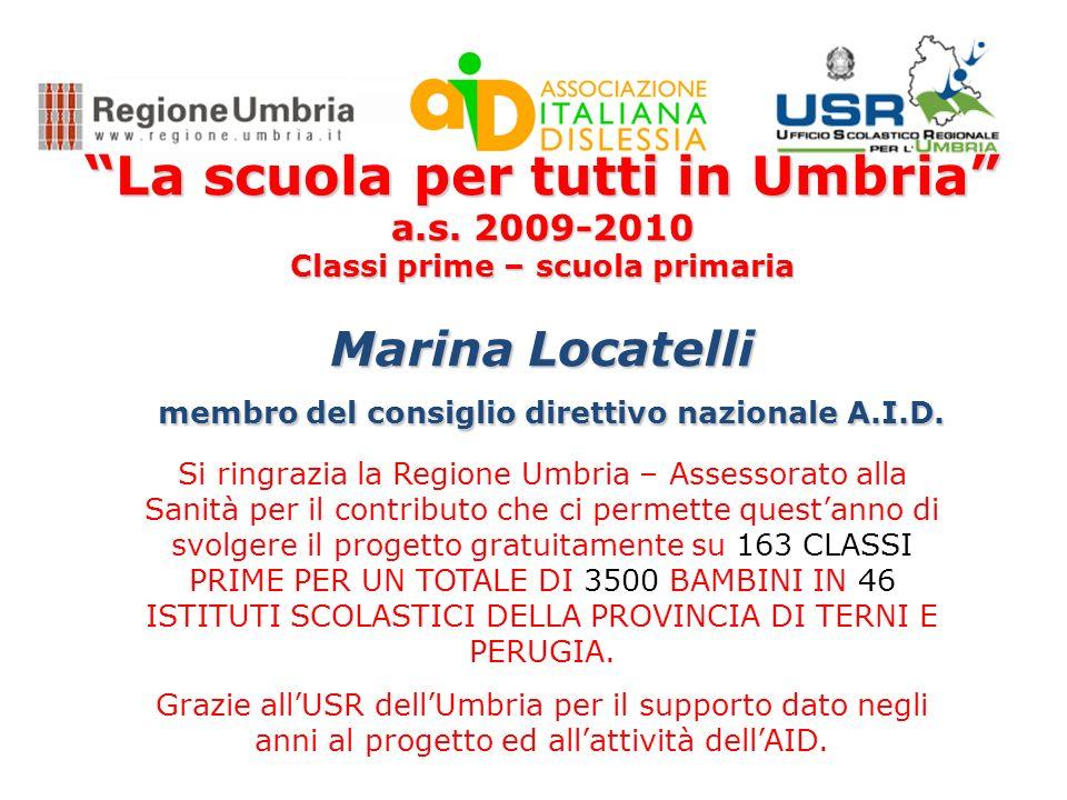 La scuola per tutti in Umbria Classi prime – scuola primaria