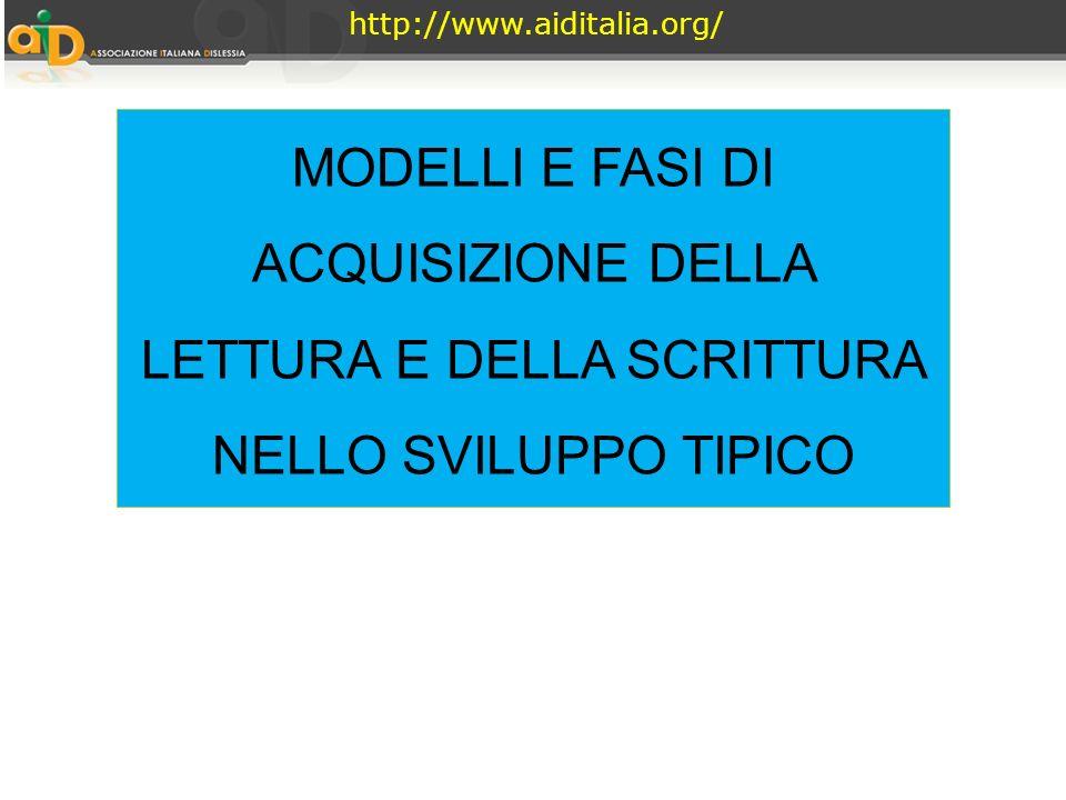 http://www.aiditalia.org/ MODELLI E FASI DI ACQUISIZIONE DELLA LETTURA E DELLA SCRITTURA NELLO SVILUPPO TIPICO.