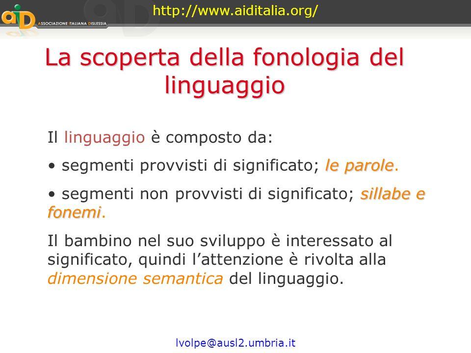 La scoperta della fonologia del linguaggio