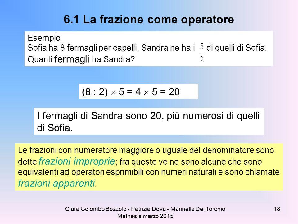 6.1 La frazione come operatore
