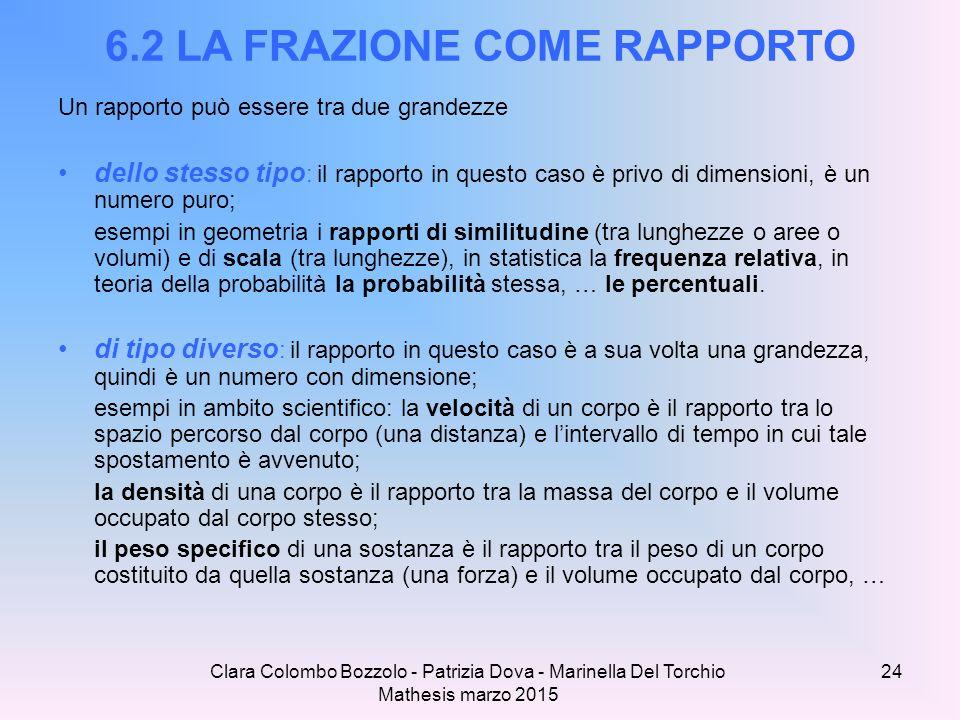 6.2 LA FRAZIONE COME RAPPORTO