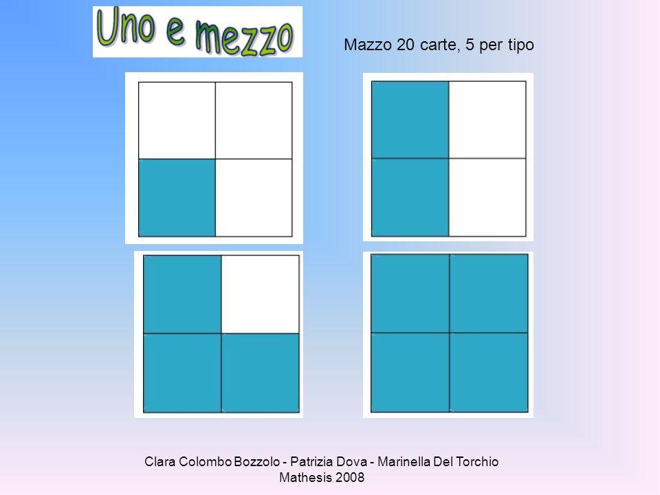 Mazzo 20 carte, 5 per tipo Clara Colombo Bozzolo - Patrizia Dova - Marinella Del Torchio Mathesis 2008.