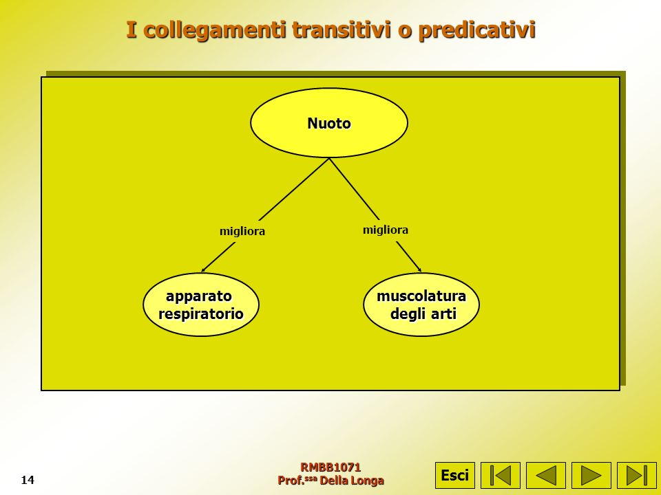 I collegamenti transitivi o predicativi