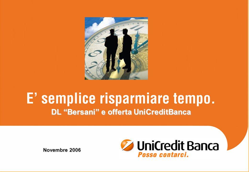 DL Bersani e offerta UniCreditBanca