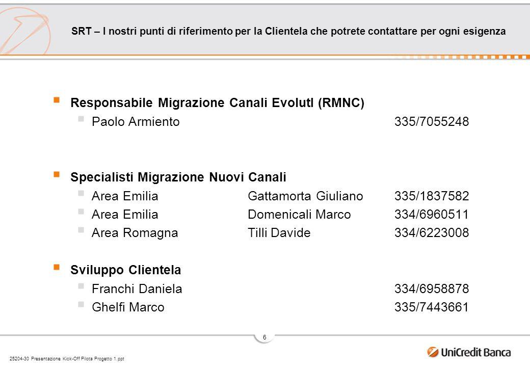 Responsabile Migrazione Canali EvolutI (RMNC)