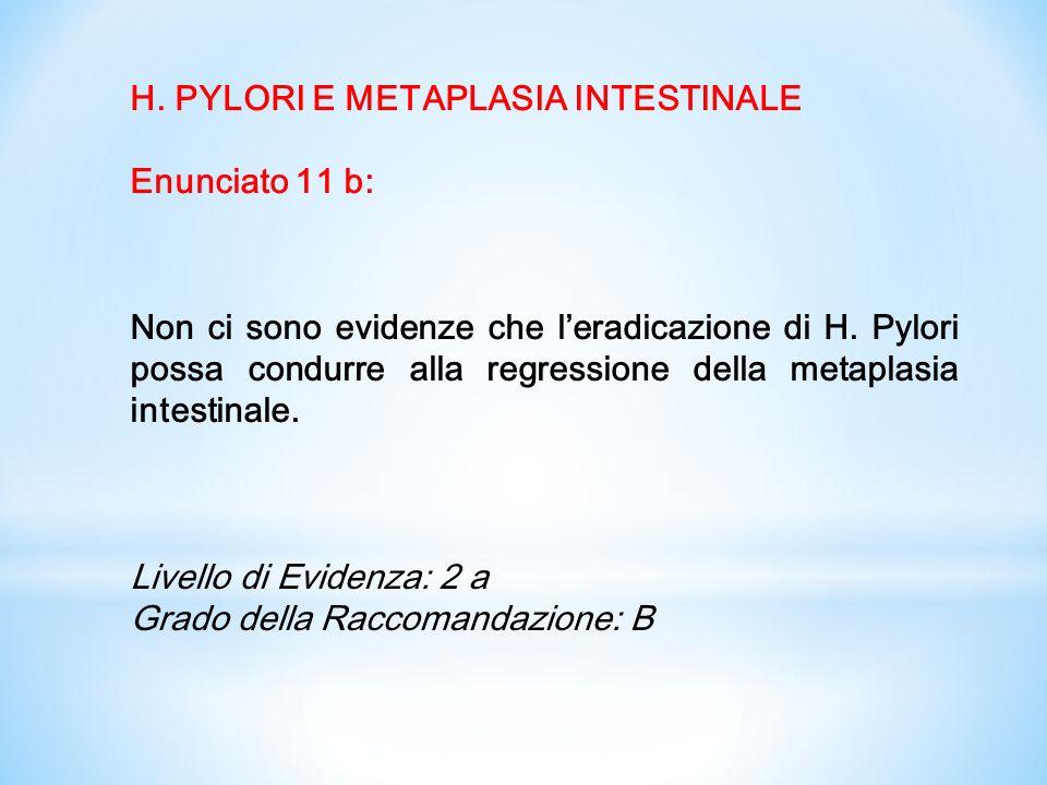H. PYLORI E METAPLASIA INTESTINALE