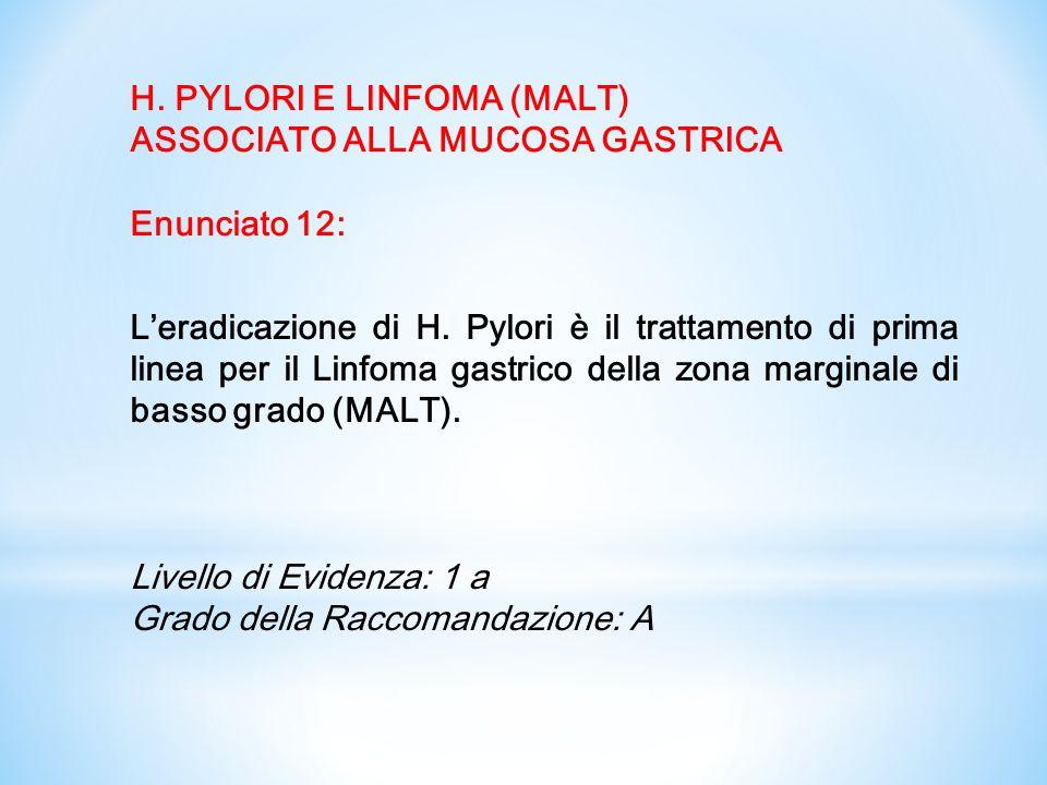 H. PYLORI E LINFOMA (MALT)