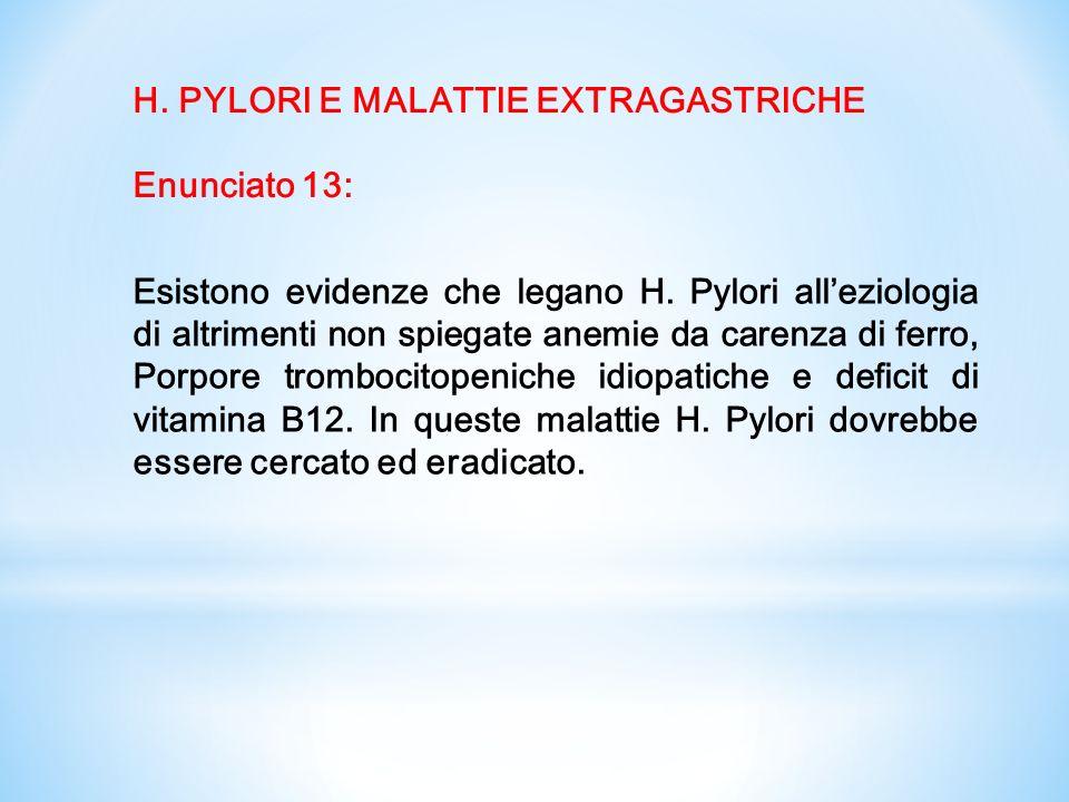 H. PYLORI E MALATTIE EXTRAGASTRICHE