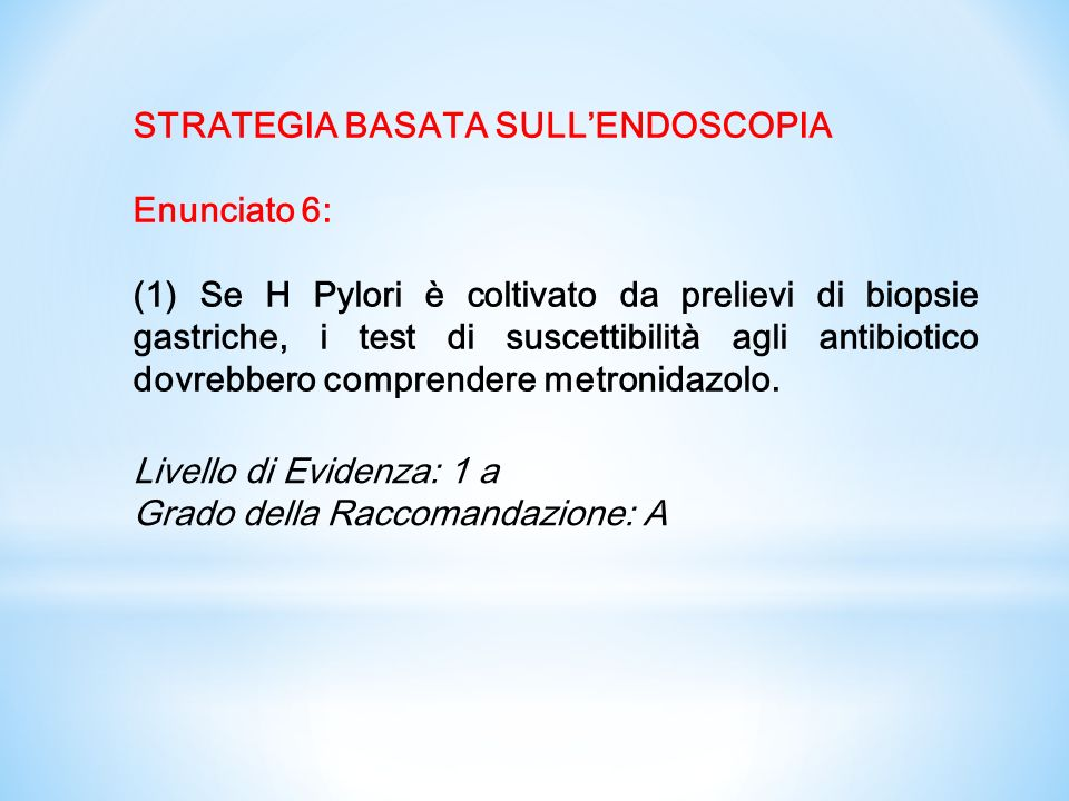 STRATEGIA BASATA SULL'ENDOSCOPIA