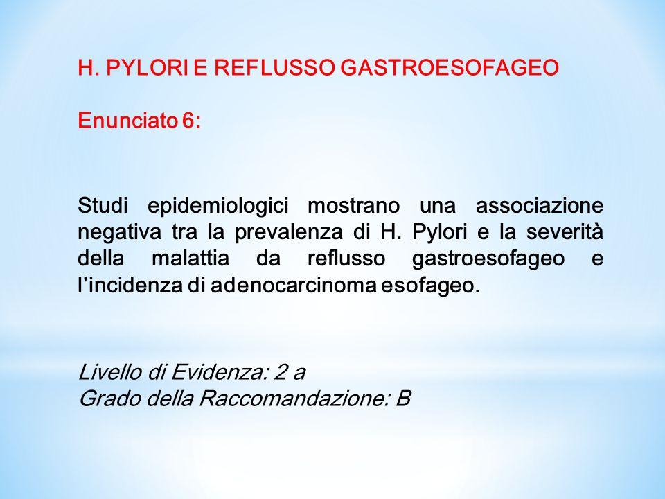H. PYLORI E REFLUSSO GASTROESOFAGEO