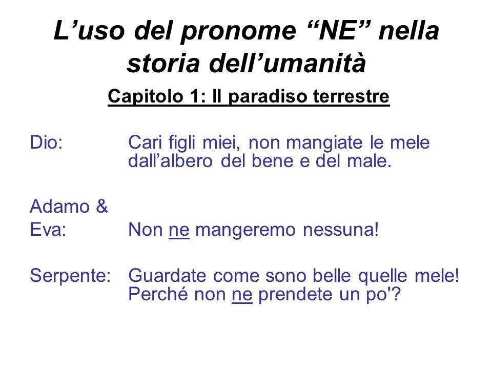 L'uso del pronome NE nella storia dell'umanità