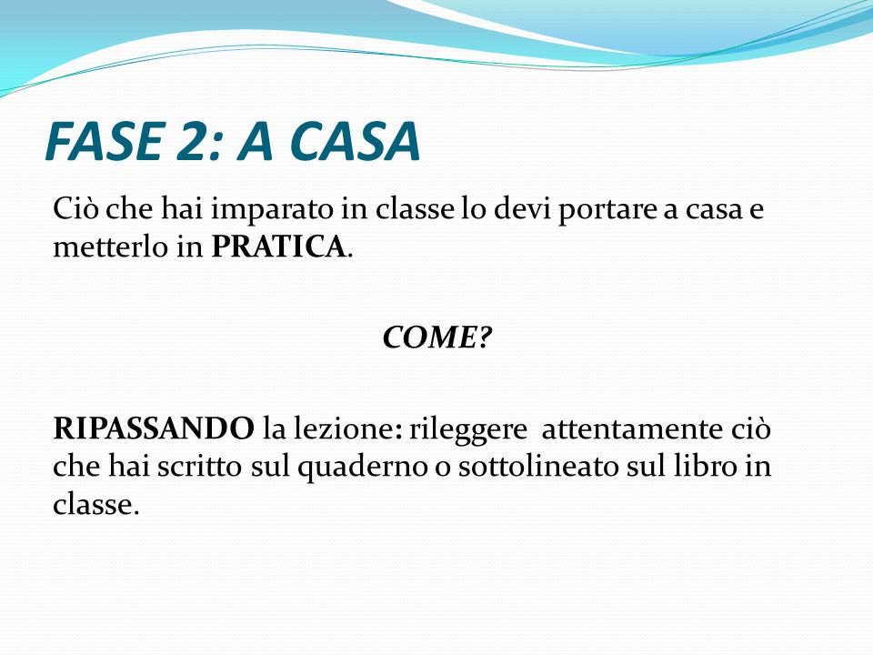 FASE 2: A CASA