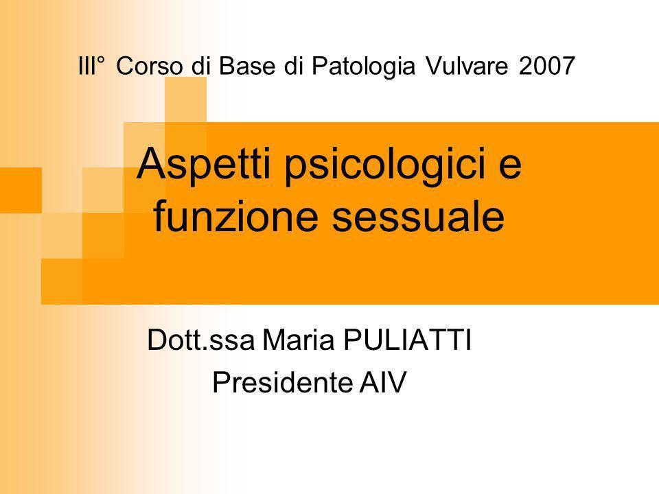 Aspetti psicologici e funzione sessuale