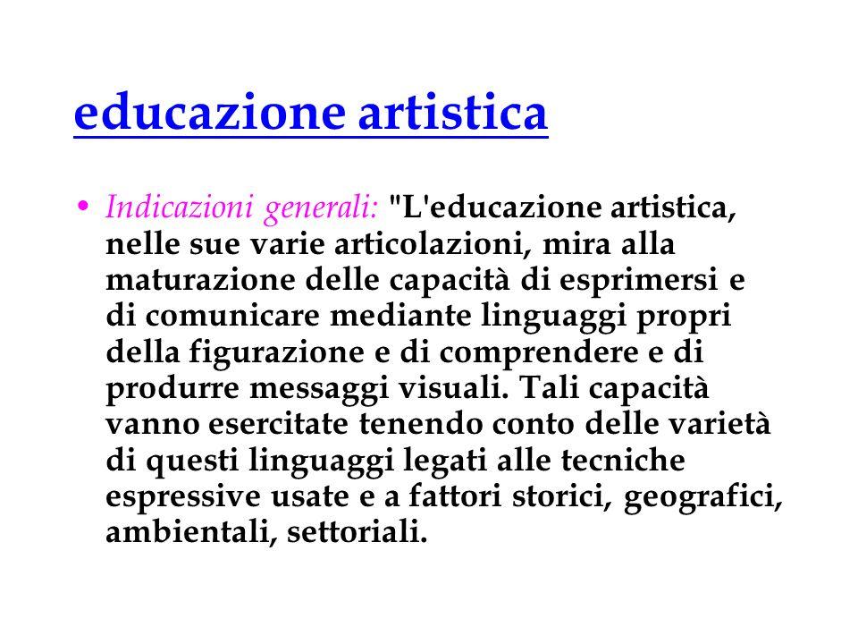 educazione artistica