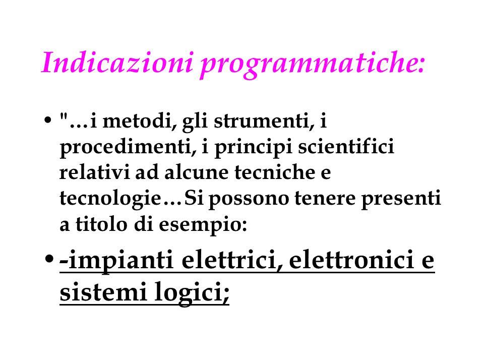 Indicazioni programmatiche: