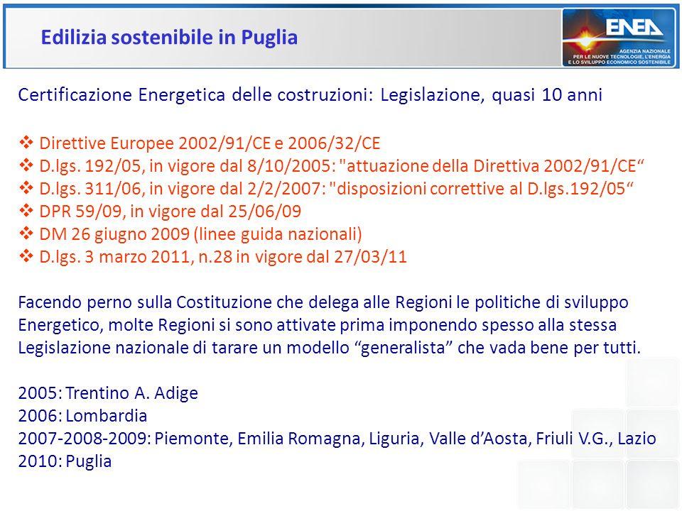 Edilizia sostenibile in Puglia