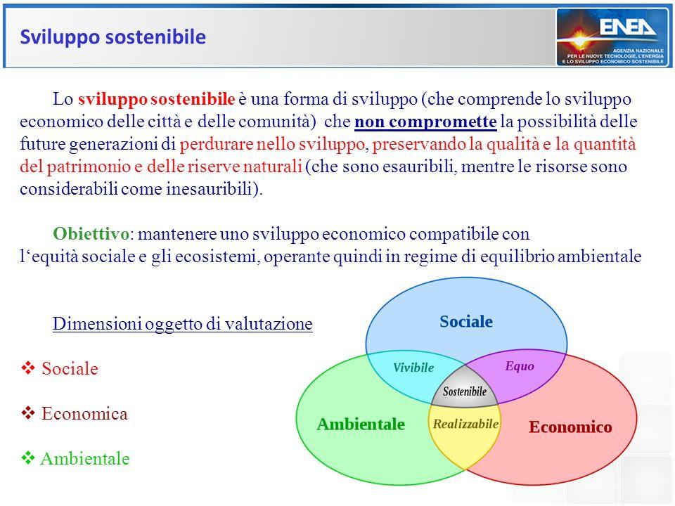 Sviluppo sostenibile Lo sviluppo sostenibile è una forma di sviluppo (che comprende lo sviluppo.