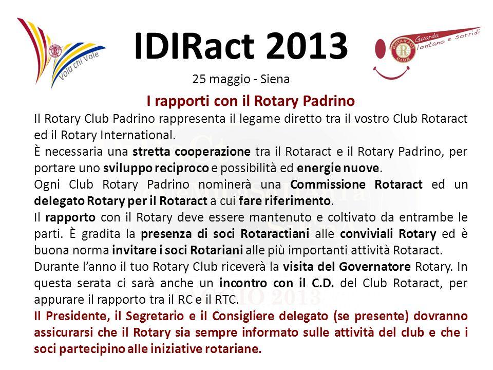 I rapporti con il Rotary Padrino
