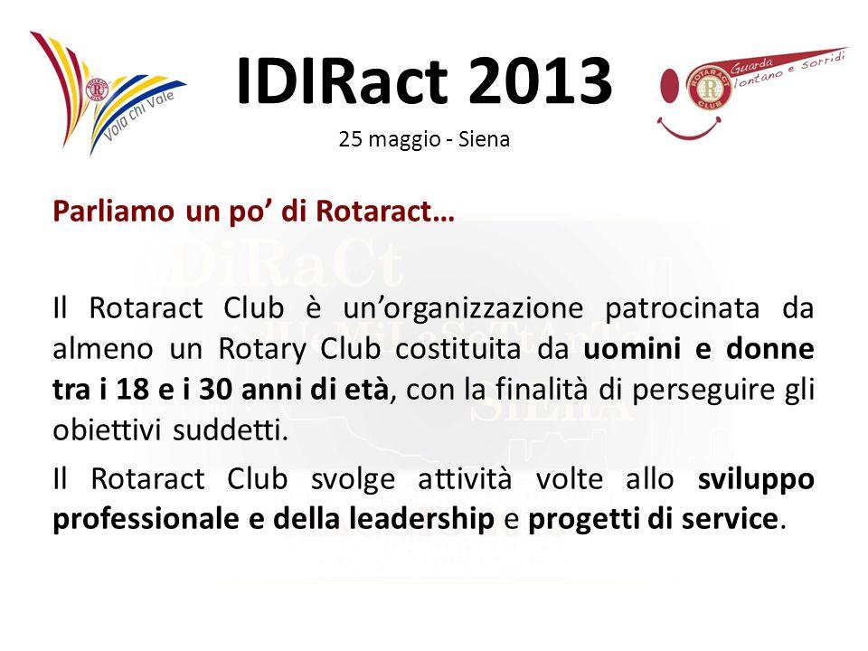 Parliamo un po' di Rotaract… Il Rotaract Club è un'organizzazione patrocinata da almeno un Rotary Club costituita da uomini e donne tra i 18 e i 30 anni di età, con la finalità di perseguire gli obiettivi suddetti.