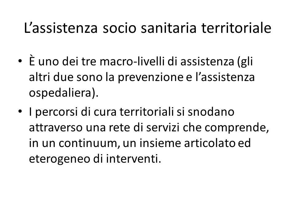L'assistenza socio sanitaria territoriale