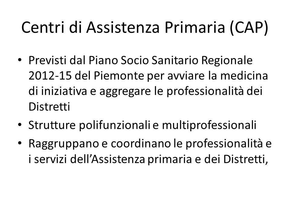Centri di Assistenza Primaria (CAP)