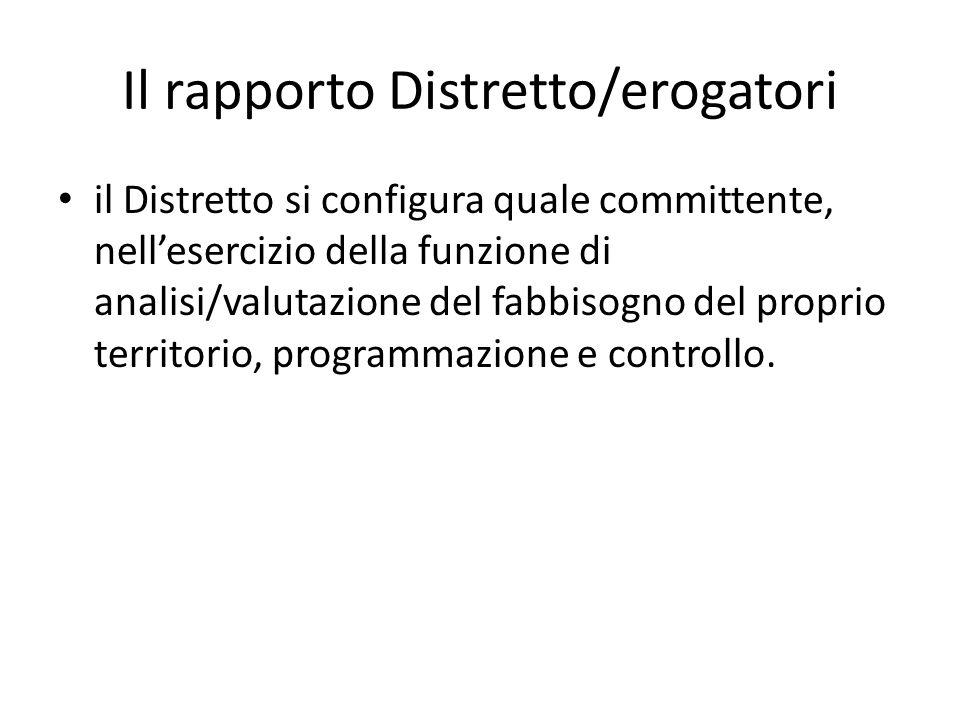 Il rapporto Distretto/erogatori