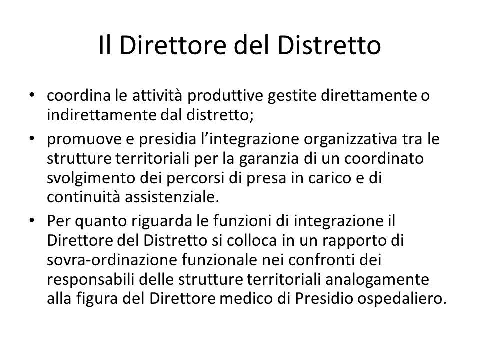 Il Direttore del Distretto