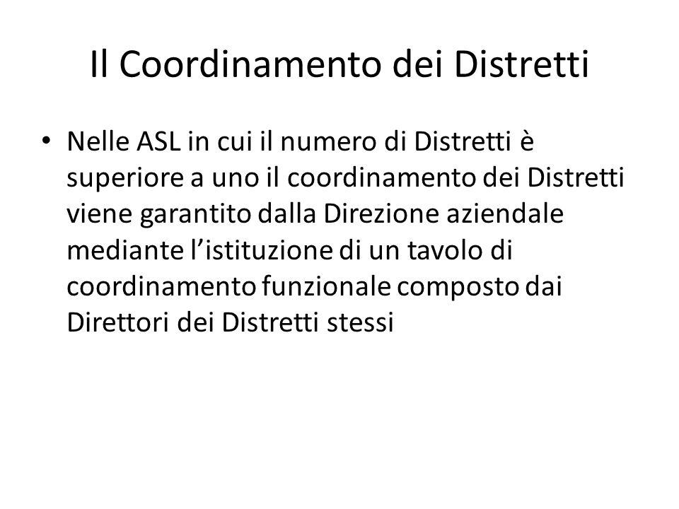 Il Coordinamento dei Distretti