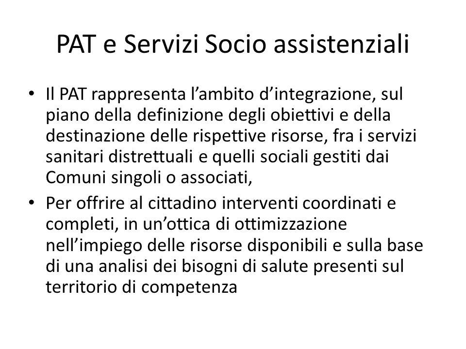 PAT e Servizi Socio assistenziali