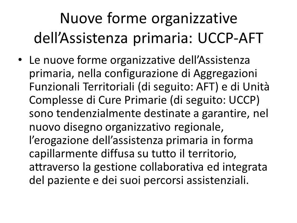Nuove forme organizzative dell'Assistenza primaria: UCCP-AFT