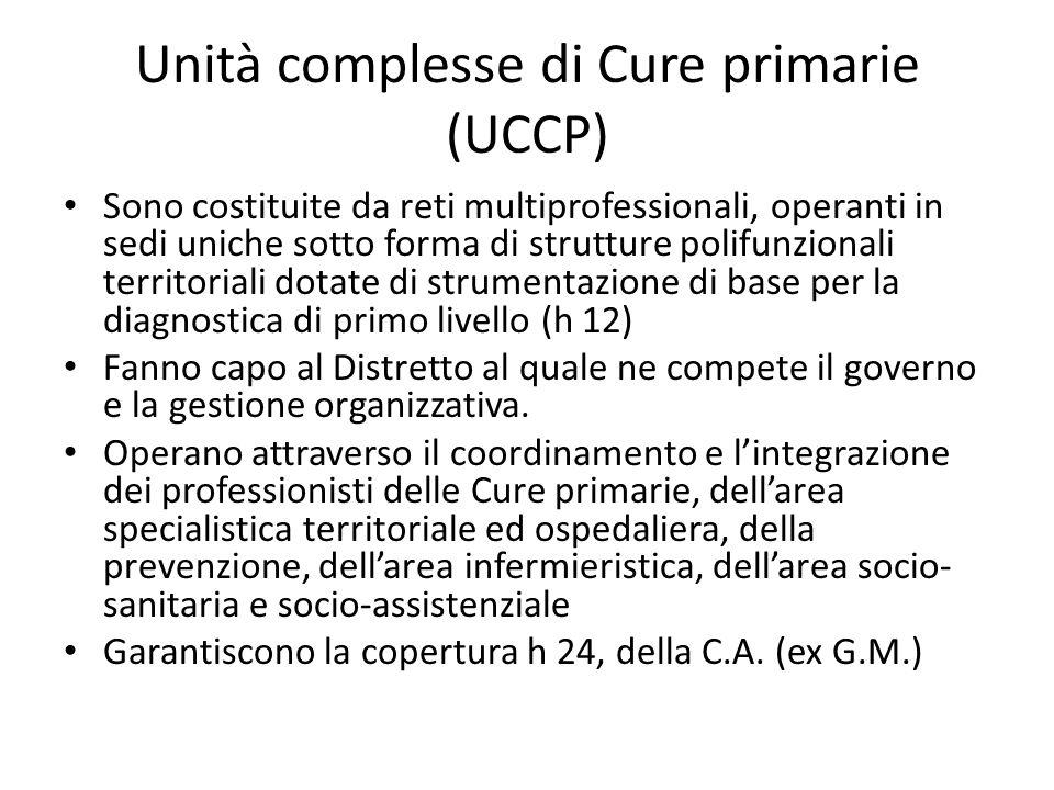 Unità complesse di Cure primarie (UCCP)