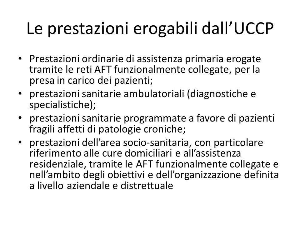 Le prestazioni erogabili dall'UCCP