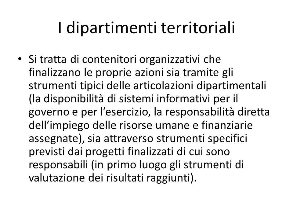 I dipartimenti territoriali
