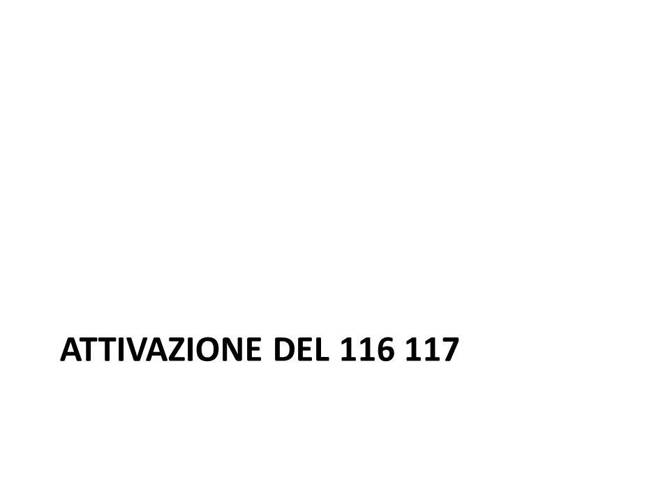 Attivazione del 116 117