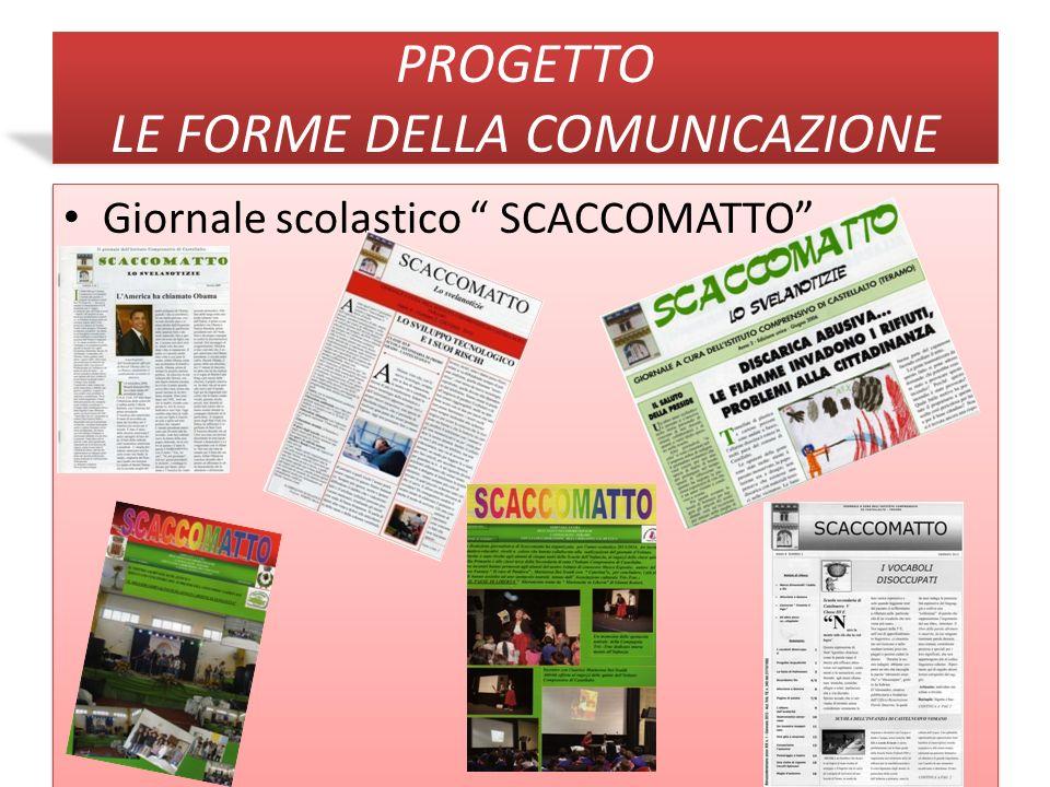 PROGETTO LE FORME DELLA COMUNICAZIONE