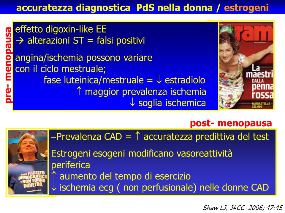 accuratezza diagnostica PdS nella donna / estrogeni