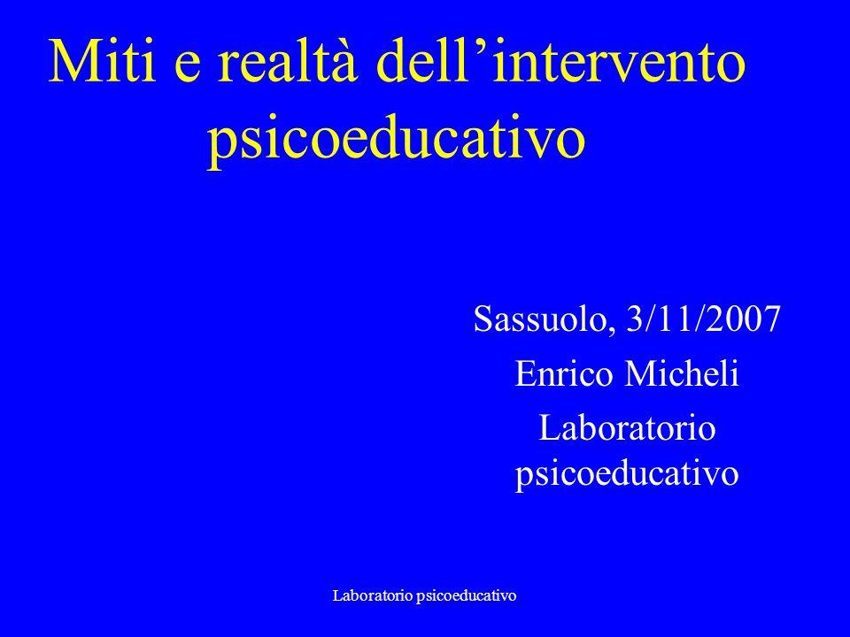 Miti e realtà dell'intervento psicoeducativo