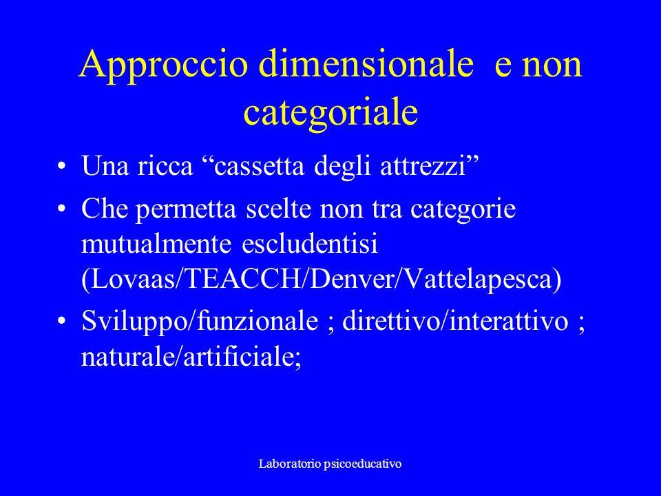 Approccio dimensionale e non categoriale